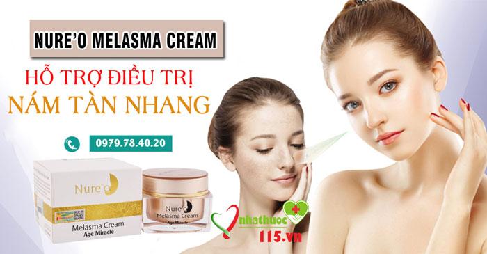 giới thiệu sản phẩm nure'o melasma cream