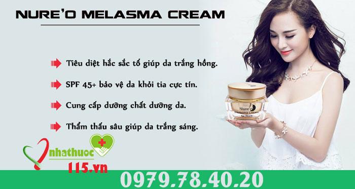 công dụng kem nure'o melasma cream