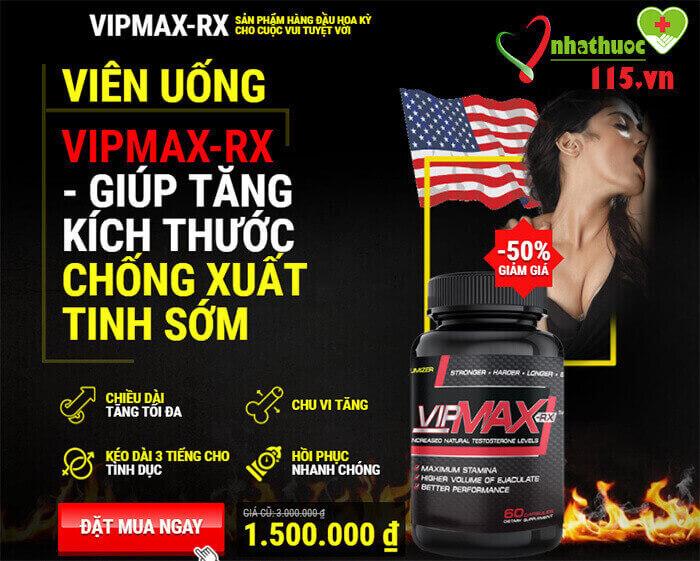 Tác dụng của viên uống vipmax-rx
