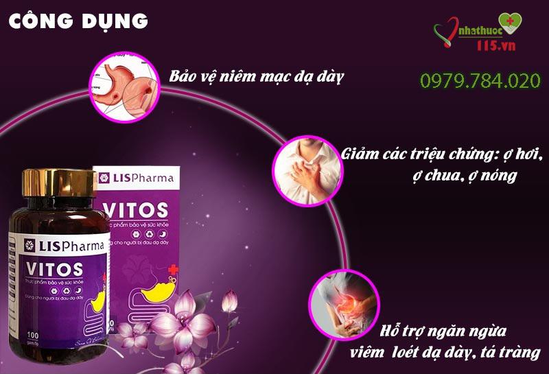tác dụng của dạ dày vitos