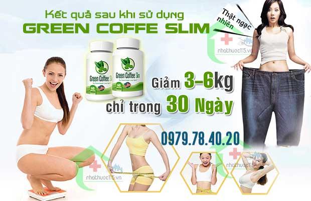 kết quả của viên uống giảm cân green coffee slim