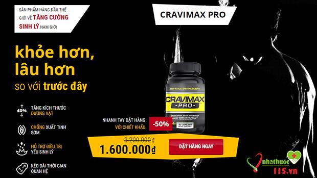 Cravimax-pro tăng cường sinh lý nam giới