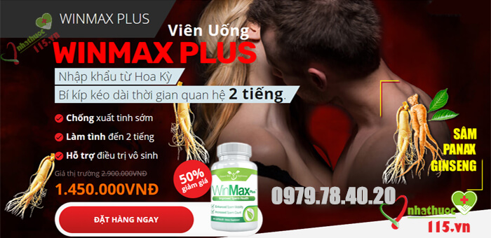 Winmax plus tăng cường sinh lý nam